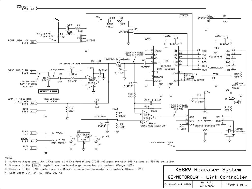 Equipment Ke8rv Repeater System London Oh Madison County This Decoder Uses A G8870 Dtmf Receiver Chip To Decode Chips One Controls The Operation Of Tone Commands Time Out Timers Etc And Other Is Dedicated Detecting Decoding